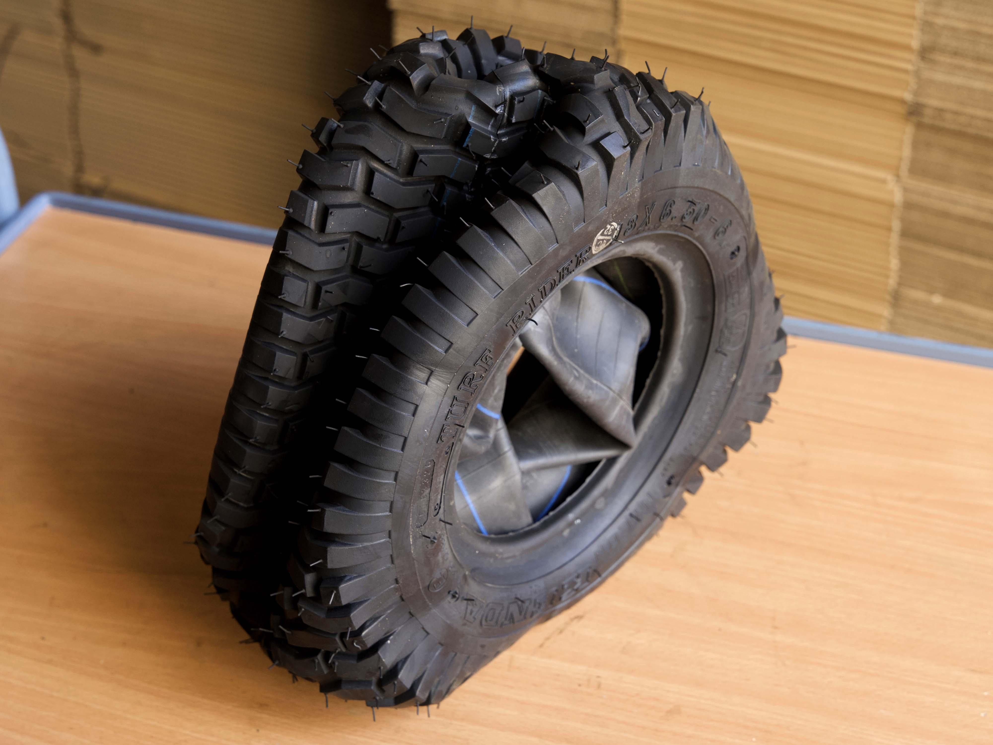 Reifen deformiert, nach der Entnahme aus dem Bündel
