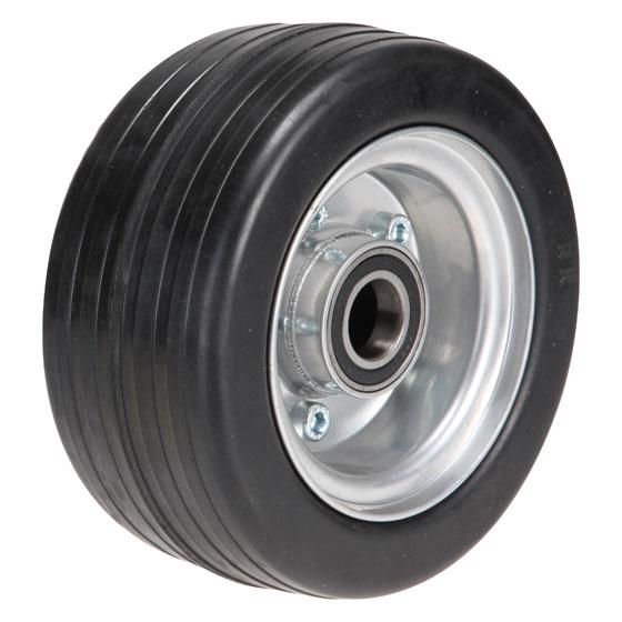 Vollgummi-Rad 180x80, Nabe: 25x75 mm (Kugellager)