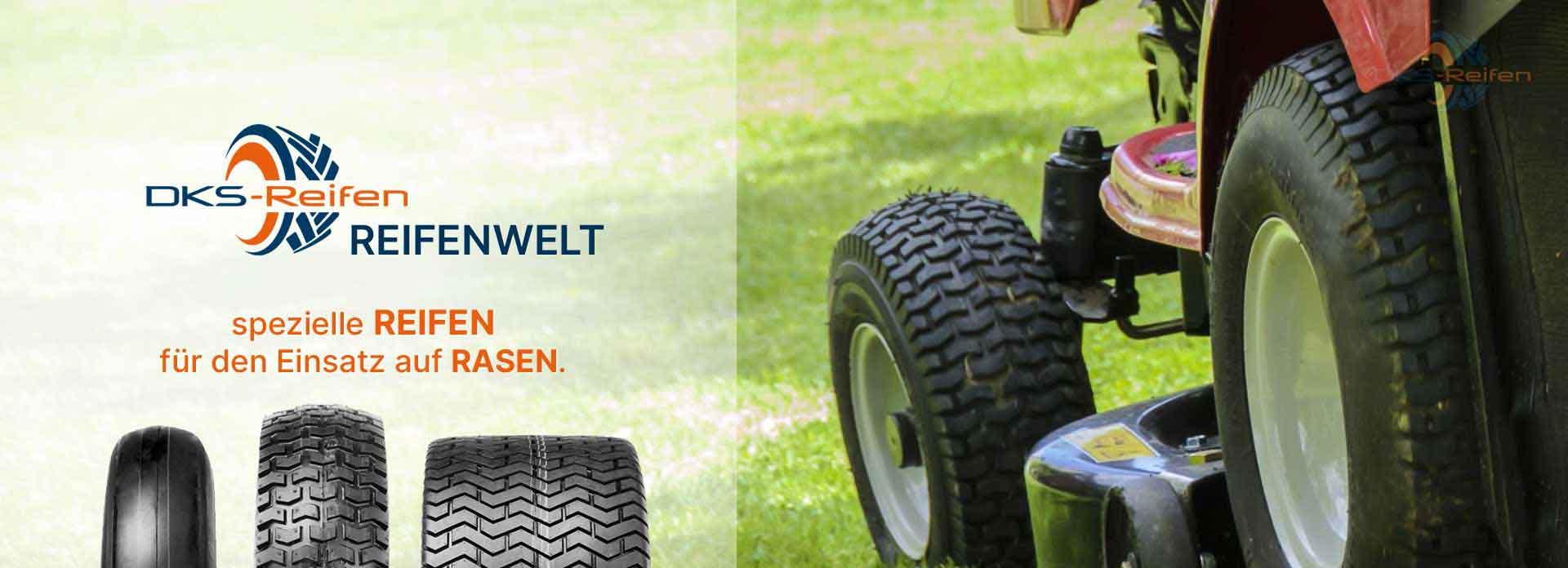 DKS Online Shop: Reifen für Aufsitzmäher und Kleintraktoren