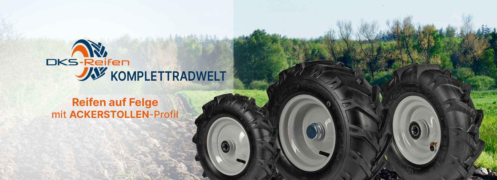DKS Reifen Online Fachhandel: Kompletträder mit AckerstolleAS-Kleinreifen