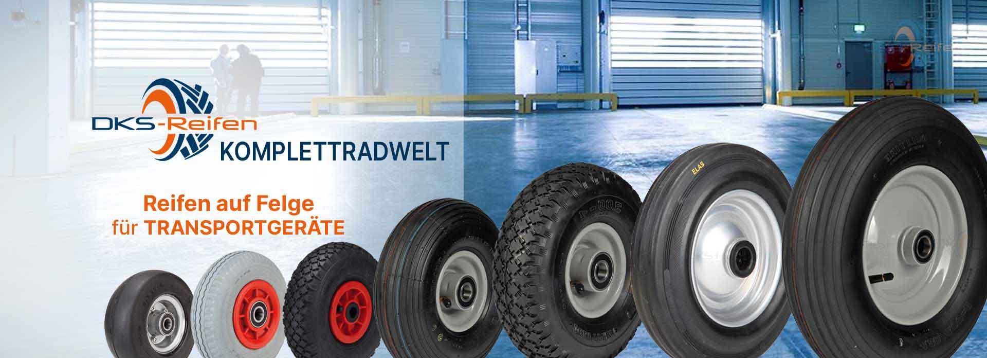 DKS Reifen Online Fachhandel | große Auswahl an Rädern für Transportgeräte
