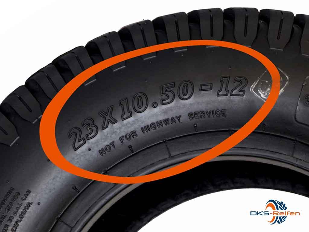 Reifengröße Zoll Beispiel