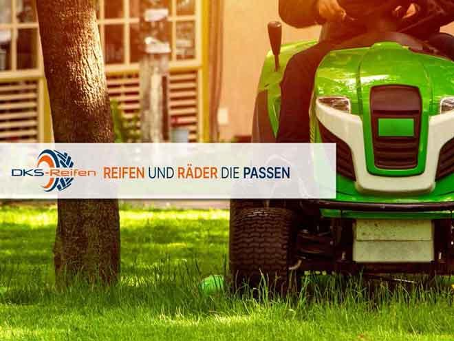 DKS Reifen und Komplätträder für Aufsitzmäher, Schubkarren, Heumaschinen und vieles mehr.