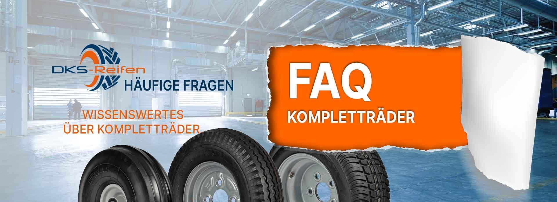 Häufig gestellte Fragen zu Kompletträdern bei Anhängern, Maschinen und Geräten