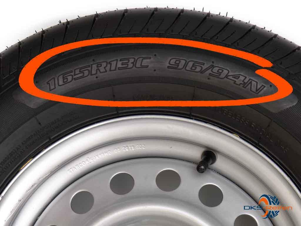 Reifengröße metrisch Beispiel