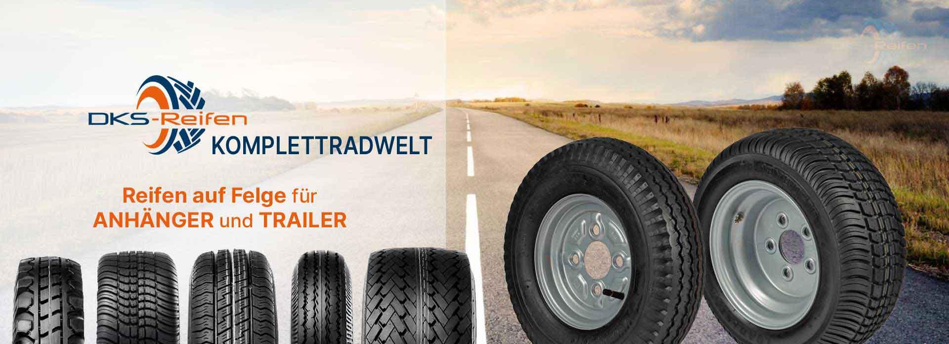 DKS Reifen Online Fachhandel   Kompletträder für Anhänger und Trailer